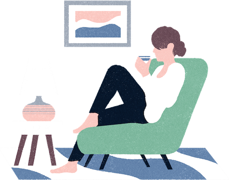 Illustration of relaxing at home